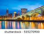 view of downtown cleveland... | Shutterstock . vector #535270900