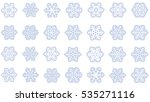 large set of various carved ... | Shutterstock .eps vector #535271116