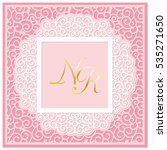 a square template for wedding... | Shutterstock .eps vector #535271650