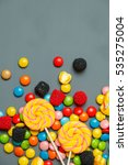 Delicious Colorful Candies On ...