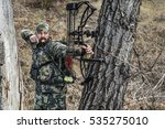 archery hunter with his bow... | Shutterstock . vector #535275010