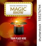 magic show poster design... | Shutterstock .eps vector #535276744