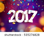 happy new year 2017 background... | Shutterstock .eps vector #535276828
