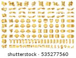 banner ribbon label gold vector ... | Shutterstock .eps vector #535277560