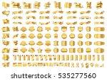 banner ribbon label gold vector ...   Shutterstock .eps vector #535277560