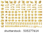 banner ribbon label gold vector ... | Shutterstock .eps vector #535277614