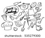 love cooking concept.poster... | Shutterstock .eps vector #535279300