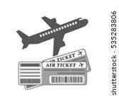 air tickets concept icon....