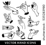 hand icons collection. vector... | Shutterstock .eps vector #535283980