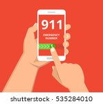emergency call 911 concept.... | Shutterstock .eps vector #535284010