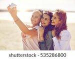 summer vacation  holidays ... | Shutterstock . vector #535286800