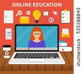 training  education online... | Shutterstock .eps vector #535288843