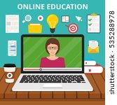 training  education  online... | Shutterstock .eps vector #535288978