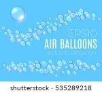 transparent bubbles wave set.... | Shutterstock .eps vector #535289218