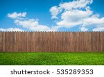 wooden garden fence at backyard | Shutterstock . vector #535289353
