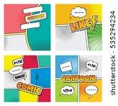 cartoon comic book template  | Shutterstock . vector #535294234