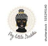mandala and buddha head with... | Shutterstock .eps vector #535295140