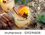 hot toddy drink  apple orange... | Shutterstock . vector #535296838