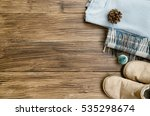 winter knitted clothes.... | Shutterstock . vector #535298674