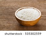 close up thai jasmine rice in... | Shutterstock . vector #535302559