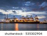 container cargo freight ship... | Shutterstock . vector #535302904