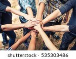 group of diverse multiethnic...   Shutterstock . vector #535303486