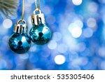 christmas ball ornament...   Shutterstock . vector #535305406