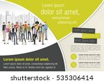 template for advertising... | Shutterstock .eps vector #535306414