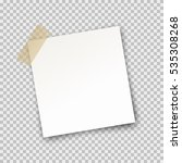 paper sheet on translucent... | Shutterstock .eps vector #535308268