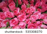 Stock photo a bouquet of pink roses 535308370