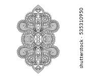 stylized henna tattoo flower... | Shutterstock .eps vector #535310950