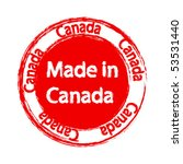 made in canada label   Shutterstock .eps vector #53531440