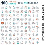 big set  line icons meal ... | Shutterstock . vector #535318366