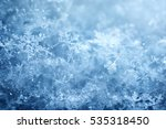 macro shot from snowflake.... | Shutterstock . vector #535318450