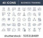 set  line icons in flat design... | Shutterstock . vector #535318489