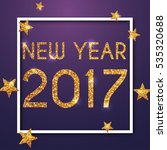 new year 2017 greeting card.... | Shutterstock .eps vector #535320688