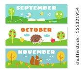 autumn months calendar... | Shutterstock .eps vector #535321954