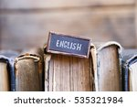english tag and books | Shutterstock . vector #535321984