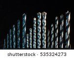 drill set with blue... | Shutterstock . vector #535324273