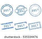 2017 stamps | Shutterstock .eps vector #535334476