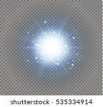 glow light effect. star burst...   Shutterstock .eps vector #535334914