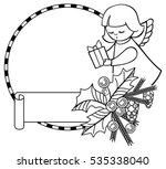black and white christmas frame ... | Shutterstock .eps vector #535338040