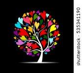love tree for your design | Shutterstock .eps vector #535341190