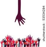 vector hands. | Shutterstock .eps vector #53534284