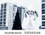 beautiful young woman near... | Shutterstock . vector #535343146