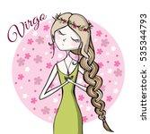 cute zodiac sign virgo | Shutterstock .eps vector #535344793