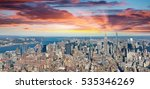Aerial View Midtown Manhattan Sunset - Fine Art prints