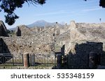 The Ruins Of Pompeii And The...