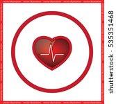 heart icon vector illustration... | Shutterstock .eps vector #535351468