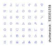 material design vector icons... | Shutterstock .eps vector #535351558